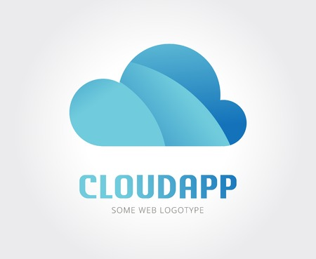 clouds: Abstract cloud vector icon template for branding and design