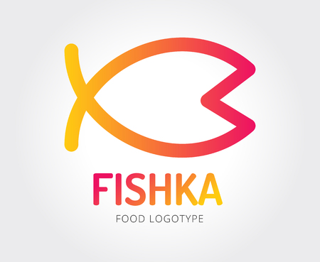 modern kitchen design: Abstract fish vector logo template for branding and design