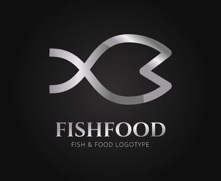 naming: Abstract fish vector logo template for branding and design