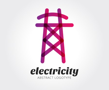 Abstract electricity vector logo template for branding and design Illustration