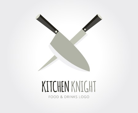 naming: Abstract knife vector logo template for branding and design Illustration