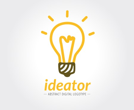 naming: Abstract lamp vector logo template for branding and design Illustration