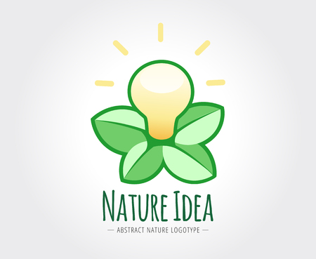 naming: Abstract nature vector logo template for branding and design Illustration