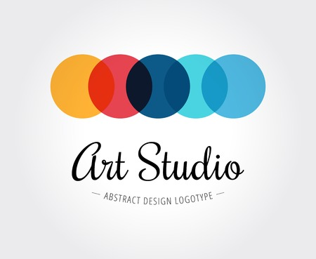 nets: Abstract art studio vector logo template for branding and design