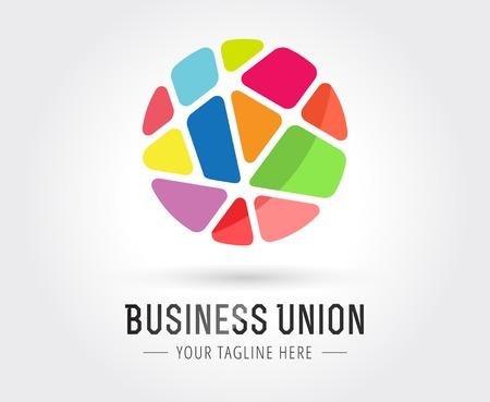 wereldbol: Abstract vector logo sjabloon voor branding en design