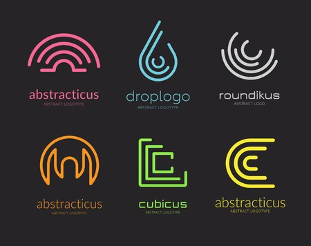 naming: Abstract vector logo set template for branding and design