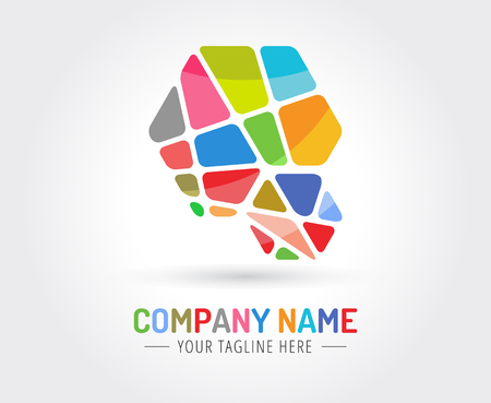 naming: Abstract vector logo template for branding and design Illustration