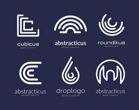 idea symbol: Abstract vector template set for branding and flat design Illustration