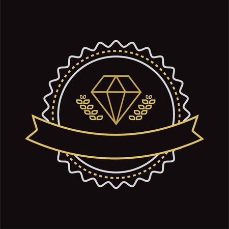 diamante: Vector joyería de la vendimia elemento de diseño. Estilo retro vintage. Flechas, etiquetas, cintas, símbolos. Ilustración vectorial editable. Vectores