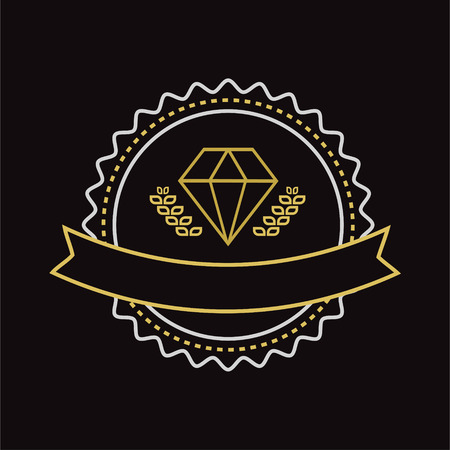 diamonds: Vector vintage jewerly design element. Vintage retro style. Arrows, labels, ribbons, symbols. Editable vector illustration.