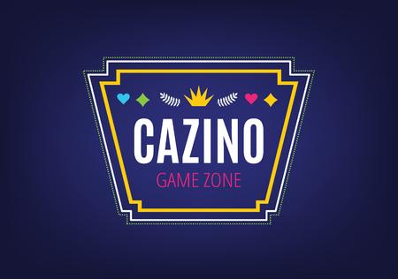 ruleta de casino: Plantilla casino abstracto para la marca y el dise�o. Flechas, etiquetas, cintas, s�mbolos. Ilustraci�n Foto de vectores.
