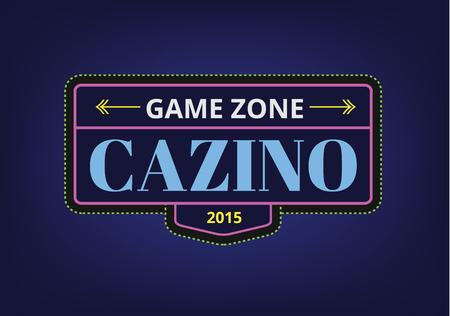 jeu: Modèle de casino abstrait pour le branding et design. Des flèches, des étiquettes, des rubans, des symboles. Stock illustration vectorielle.