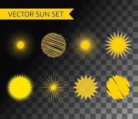 słońce: Abstrakcyjny element wektora. Słońce, lato i wakacje. Ilustracji stock projektowania Ilustracja