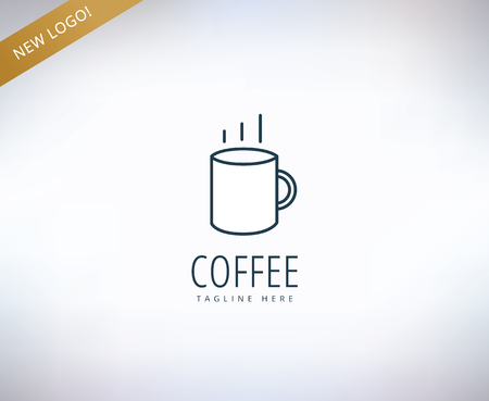 caffee: Caffee vector  icon. Caffe, drink or restaurant and cup symbol. Stock design element.