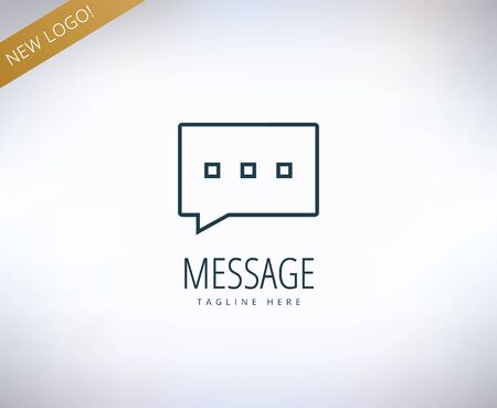 vector message: Vector message, forum, chat and typing  element. Stock illustration for design