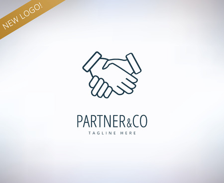 business symbol: Human hands vector icon. Relations, friends, meeting and business symbol. Stock design element.