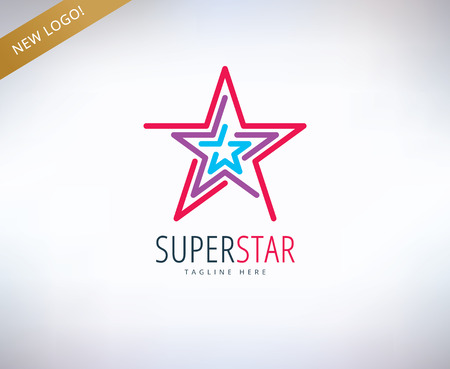 rank: Star vector  icon. Leader, winner, rank or competition and shine symbol. Stock design element. Illustration