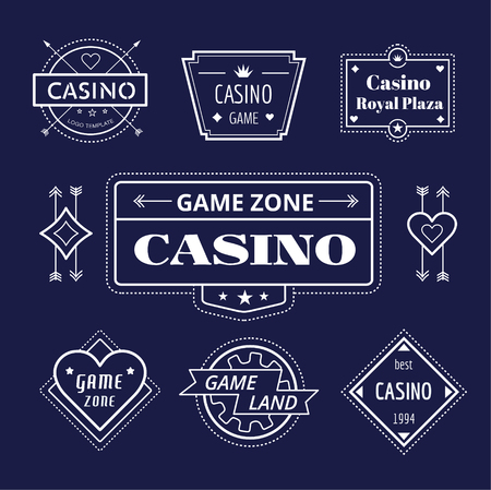 cards poker: Casino vector  icons set. Poker, cards or game and money symbol. Stocks design element.