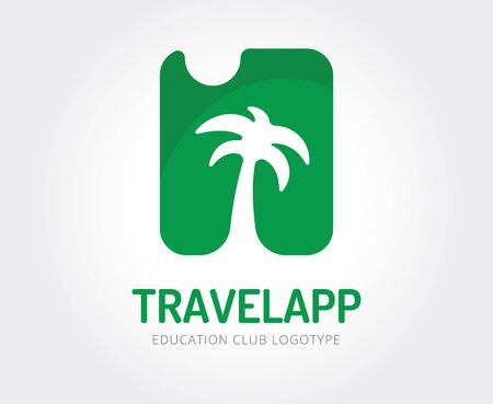 palmier: Modèle de Voyage abstraite pour le branding et design