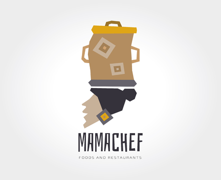 naming: Abstract mama chef template Stock Photo
