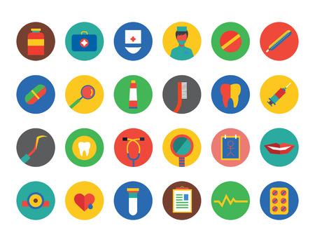 dna smile: Medical Icons Set.