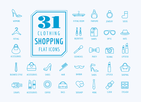Shopping icons set Illustration