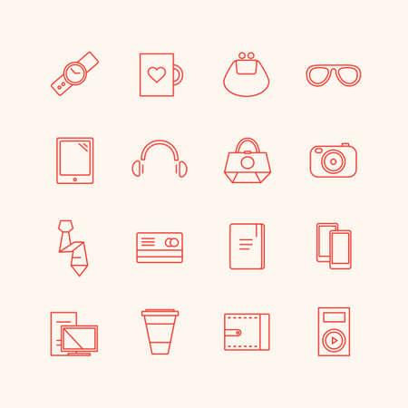 paraphernalia: Paraphernalia icons set