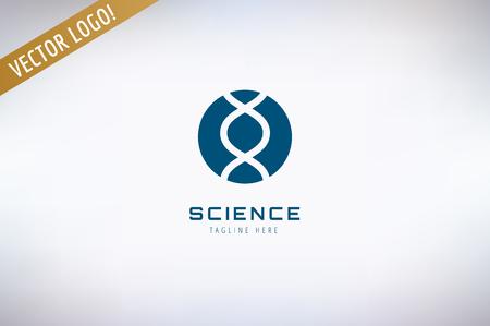 laboratorio: Science, experiencia y símbolo molecular. Vectores