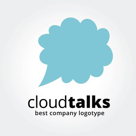 Abstract cloud talks concept isolated on white.