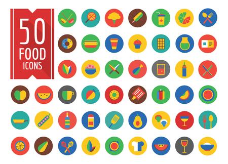 food icons: Food Icons Set.