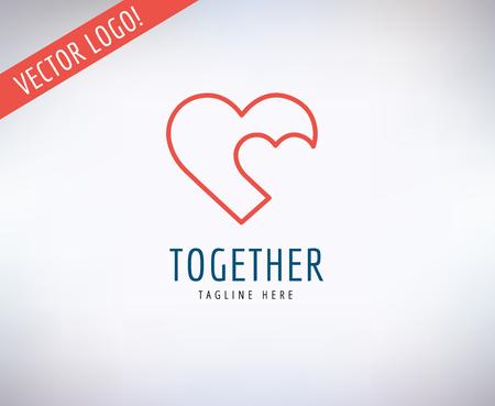 Tvaru srdce ikona Ilustrace