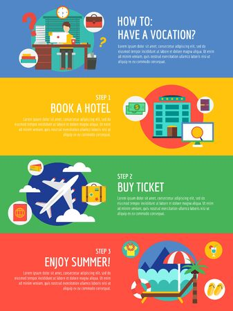 vocation: Vocation summer travel infographic.