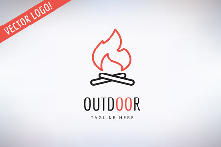 outdoor fire:  Outdoor, Kitchen or Meat symbol.