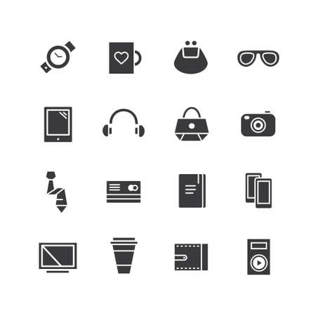 Mobile objects icons set.
