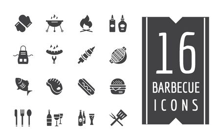 bbq:  Outdoor, Kitchen or Meat symbols.