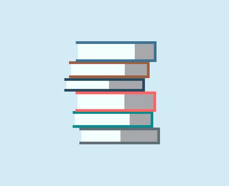 Pila de libros aislados icono. Objetos de la escuela o de la universidad y de la universidad símbolos. Elementos de la de diseño.