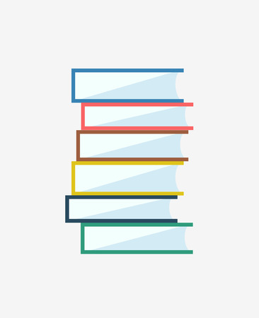 videobook: Books stack icon isolated. School objects, or university and college symbols. Stock design elements.