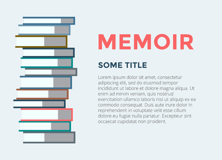 audiobook: Books stack icon isolated. School objects, or university and college symbols. Stock design elements.