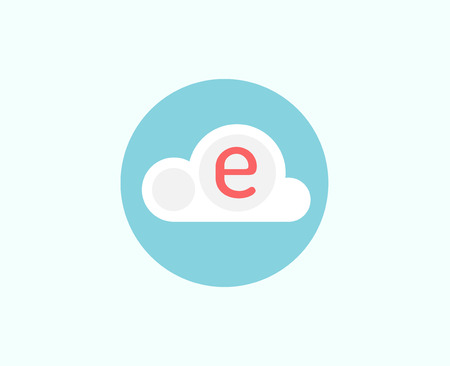 stock illustrations: Web cloud business icon. Web, storage, creative and teamwork. stock illustrations for design