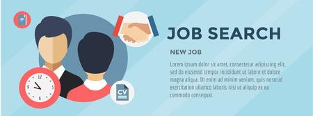 trabajo: Buscar trabajo nuevo. infografía. Trabajo, Oficina, Coupe y Personas Caras.