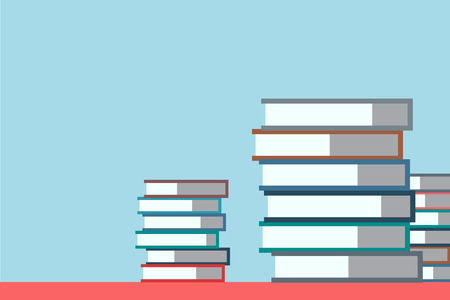 electronic publishing: Books stack. Icon isolated. School objects, or university and college symbols. Stock design elements.