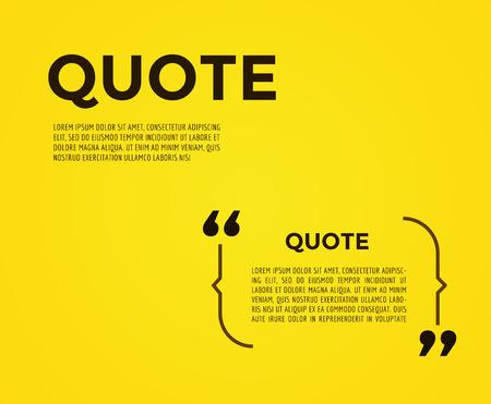 comment: Quote text bubble. Commas, note, message and comment. Illustration