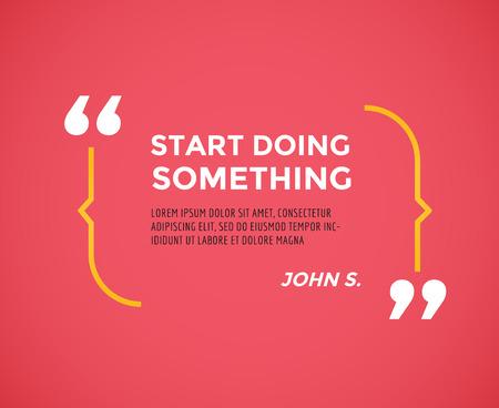 Citation inspirée. Motivation, inspiration, devis et note. Banque d'images - 42583608