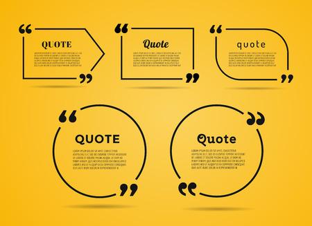 Quote tekst zeepbel. Komma's, nota, bericht en commentaar.
