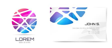 globo: Vector brochure modello. Freccia Abstract design e idea identità creativa, vuoto, carta. Dell'illustrazione. Isolato su sfondo bianco.