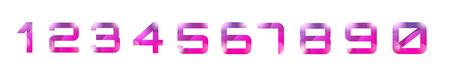 numero nueve: Vector 1-10 n�meros de plantilla de fuente. Contar cartas y firmar dise�o, escuela, iconos creativos o elemento, papel, flechas, brillante. Ilustraci�n. Los elementos de dise�o Vectores
