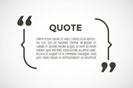 Quota bolla testo. Le virgole, nota, messaggio, vuoto, sagoma, testo, contrassegnato, tag e commentare o info, autoadesivo, dicendo, citando, informazioni. Elemento Vettore stock di design Archivio Fotografico - 43201317
