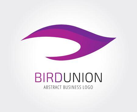 Modelo de la insignia del icono del vector del pájaro abstracto. Spa, belleza, diseño, naturaleza, creativo, salud, eco, fresco, limpio, fuego, llama, alas, mosca pájaro, giro, onda. Compañía icono del logotipo. concepto de logo Foto de archivo - 43457863