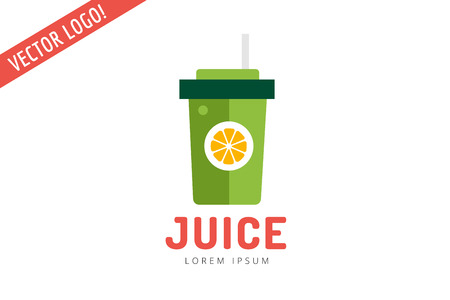 juice: Lime or lemon fruit drink logo icon template design. Fresh, juice, drink, yellow, splash, vegetarian, cold. Stock vector