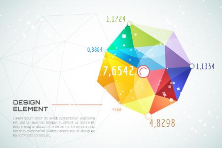 テクノロジー: 抽象的な背景のベクトルの壁紙。三角形、色の線、パターン、幾何学的な芸術、技術壁紙、技術の背景。株式のベクトル図